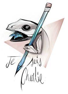 Il nostro tributo per i recenti eventi..  L'arte, la vita..tutto in genere esiste e continuerà ad esistere finché ci crediamo, finché non decidiamo di dimenticarlo. #jesuischarlie #charliehebdo #freedomofspeech #tiliqua