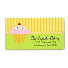 Cupcake Bakery Label