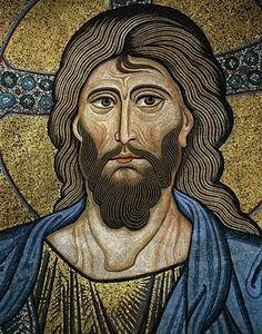5. 3 mosaïque de l'abside de l'église cathédrale de Cefalu, détail.