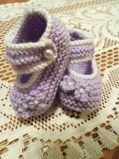 I love to knit - my own little version of Mary Jane shoe bottees.. adorable if I do say so myself