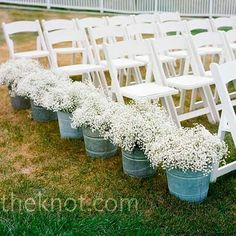 rustic country chic weddings | Wedding: Country~Rustic Style / love the buckets