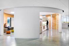 Open concept...Split kitchen/break room area space