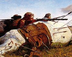 N.C. Wyeth Art - Fight on the Plains - 1987 Vintage Book Page Print - American Artist - 9 x 11