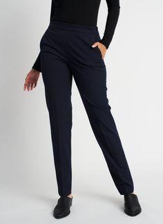 Go To Trouser, Dark Navy | Kit and Ace Herringbone Pattern, Saved Items, Dark Navy, Black Is Beautiful, Trousers, Pants, Button Up Shirts, Slim, Yum Yum