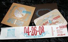 Letterpress Save Date & Program: A / T by smokeproof, via Flickr