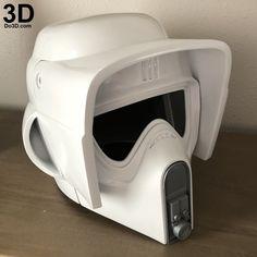 helmet-biker-scout-trooper-scouttrooper-star-wars-3d-printable-model-print-file-stl-by-do3d-04 3d Printing Diy, Prop Maker, 3d Printing Industry, Model Scout, Star Wars Prints, 3d Printable Models, Empire, Suit Of Armor, 3d Printer