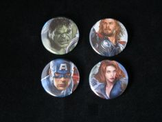 Avengers Repurposed Comic Button Set by EpicButtons on Etsy, $5.00
