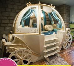 girl bed furniture on sale at reasonable prices, buy Happy Baby Custom Solid Wood Boys And Girls Bed Theme Hotel Features American Carriage Bed Children's Furniture from mobile site on Aliexpress Now! Little Girl Rooms, Little Girls, Disney Bedrooms, Small Bedrooms, Fantasy Bedroom, Dreams Beds, Crazy Kids, Baby Furniture, Bedroom Furniture