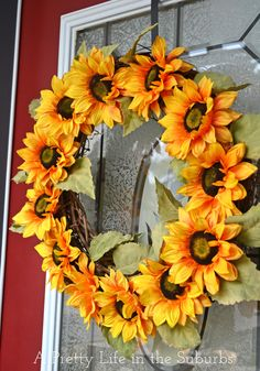 Sun flower wreath. Been wanting to make one all summer.