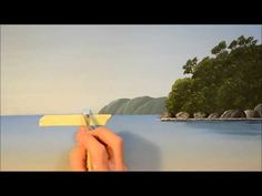 Acrylic Painting Tutorials, Painting Techniques, Painting Tips, Seascape Paintings, Mural Painting, Landscape Art, Landscape Paintings, The Joy Of Painting, Ocean Sunset