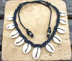 Beautiful Unisex Cowry Shell Necklace by KipajiPraiseJewelry, $25.00