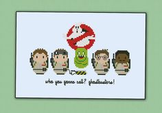 This is a parody, an inspirational cross stitch pattern of the movie Ghostbusters    CROSS STITCH CROSS STITCH PATTERN DETAILS:  Stitches: 39x59