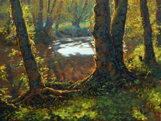 Little Creek by Modern Painter Michael Orwick - <p>Little Creek 36x48 Oils on Canvas </p>