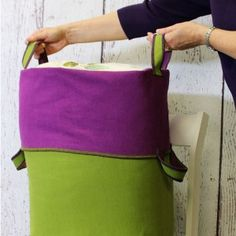 Check out this great serger project dubbed the Big-Bigger Canvas tote by Nancy Zieman. | Happy National Serger Month!