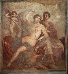 Mars and Venus -- wall painting from the House of Mars and Venus, Pompeii