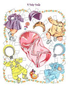 Paper Dolls~4 baby dolls - Bonnie Jones - Picasa Web Albums