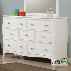 Dominique White 7-Drawer Dresser.   $350.   Betty USA. Same size @ original
