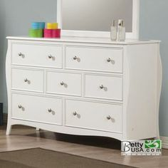 Dominique White 7-Drawer Dresser.   $350.   Betty USA. Same size @ original