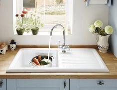 White ceramic kitchen sink kitchen pinterest mixer taps white lamona ceramic single bowl sink workwithnaturefo