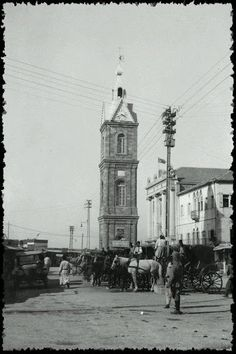 The clock tower of Jaffa (Palestine) 1928
