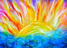 Image result for sun and moon acrylic painting