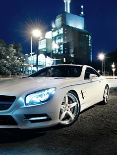White Mercedes SL