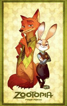 Zootopia - Nick Wilde x Judy Hopps - Wildehopps