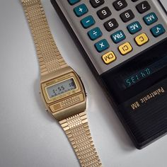 Seiko Digital 1980 Vintage LCD Calculator Alarm NOS Unworn & RARE Gold C359-5000 | eBay