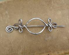 Keltisches offenes Auge mit Twist Aluminium Schal Pin, Hair Pin, Pin Schal, Barrette, Clip, Haarspange, leichte Gewicht langes Haar-Accessoire, Frauen