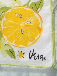 VERA Citrus Orange Napkin / One Orange Citrus Vera Napkin / Vera Neumann-- double cuteness!!!!!