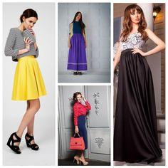 Сатиновые юбки с чем носить?