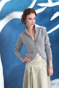 Free knitting pattern for silver cardigan sweater and more free cardigan knitting patterns at http://intheloopknitting.com/cardigan-sweater-knitting-patterns/