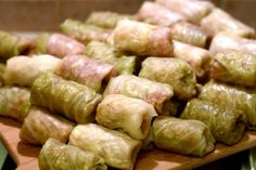 Romanian Stuffed Cabbage Rolls...they will probably not be as good as Lydia's.