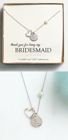 Thank you for being my bridesmaid! We love this idea for a gift for your bridesmaid!