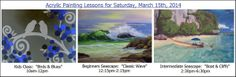 Upcoming Acrylic Painting Workshop Lessons at Michael's Store in Olathe, Ks - March 15, 2014.  More lessons at www.joleywileyfineart.com/workshops