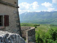 Vigo di Ton - Castel Thun - la Val di Non dalla Torre della biblioteca