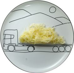 Transportation Plates, Artfully Load Up Your Food on Designer Plates By Rusty Blazenhoff