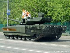 T-14 Armata returning to base after Victory Parade