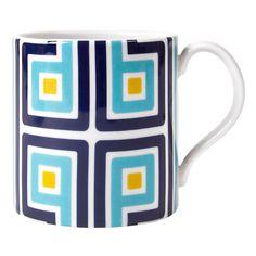 Jonathan Adler Carnaby George Mug Blue
