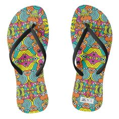 Terrific aquatic monsters in doodle art style flip flops | Zazzle.com Pattern Art, Pattern Design, Creative Area, Funny Monsters, Design Theory, Art Courses, Chart Design, Art Drawings Sketches, Dog Design