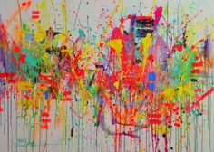 "Saatchi Art Artist Marta Zawadzka; Painting, ""Colourful Emotions"" #art"