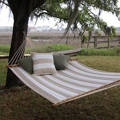 Pawleys Island Hammocks Decade Sand Large Quilted Fabric Hammock *** Click the VISIT button to find out more