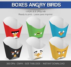 Hey, I found this really awesome Etsy listing at https://www.etsy.com/listing/208428154/6-popcorn-box-angry-birds
