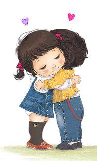 Niños que se abrazan