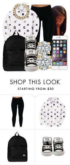 """Unique"" by honey-cocaine1972 ❤ liked on Polyvore featuring Aloha From Deer, Quiksilver and Topshop"