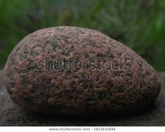 Beautiful Structural Voluminous Rounded Stone Lies Stock Photo (Edit Now) 1423432844 Textured Background, Photo Editing, Royalty Free Stock Photos, Stone, Norway, Pictures, Image, Beautiful, Green