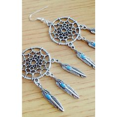 Diamond in The Sky Dreamcatcher Earrings ($11) ❤ liked on Polyvore featuring jewelry, earrings, earrings jewellery, earring jewelry, silver plated jewelry and silver plated earrings