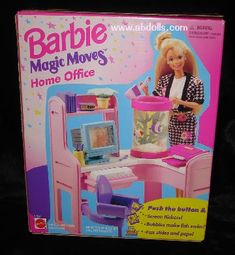 barbie magic movers home office...HAD THIS ONE :D....THE SCREEN CHANGED AND THE  FISHES COULD SWIM...AWESOME...