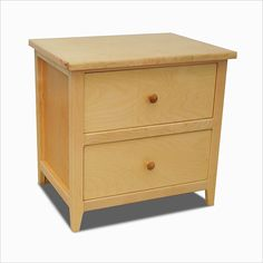 Inlay Shaker Nightstand w/ 2 Drawers
