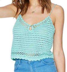 top cropped em crochê - a sensação da moda verão 2015